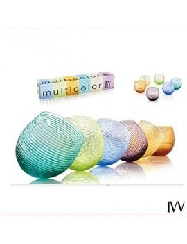 multicolor set 6 bicchieri...