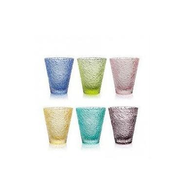 iroko set 6 bicchieri colorati scatola grigia