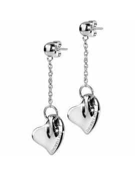 orecchini acciaio c/cuore...